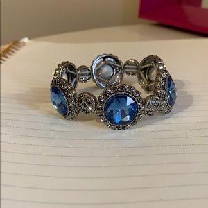 Blue Monet Stretch Bracelet